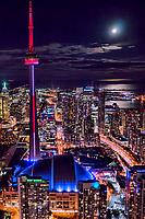 Moonlight over Toronto & Lake Ontario