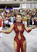Viviane Araujo, Salgueiro Samba School doing the final practice performance of their Carnival procession in the Sambadrome, Rio de Janeiro, Brazil