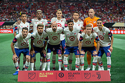 August 1, 2018 - Atlanta, Georgia, United States - 2018 MLS All-Star starting 11 at the 2018 MLS All-Star Game at Mercedes-Benz Stadium in Atlanta, Georgia.  Juventus F.C. defeats  MLS All-Stars defeat  1 to 1  (Credit Image: © Mark Smith via ZUMA Wire)