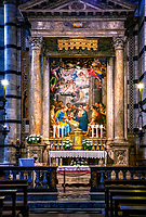 """Chapel of the Blessed Sacrament - Adoration of the Shepherds Duomo di Siena""... <br />