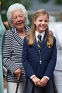 Menchu del Valle, Princess Sofia arrived Asuncion de Nuestra Senora Church for the First Communion of Princess Sofia on May 17, 2017 in Aravaca near of Madrid.