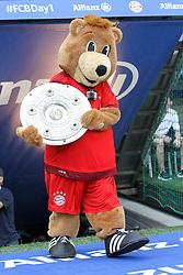 11.07.2015, Alianz Arena, Muenchen, GER, 1. FBL, FC Bayern Muenchen, Teampräsentation, im Bild Berni kommt mit der Meisterschale in die Arena // during the Teampresentation of German Bundesliga Club FC Bayern Munich at the Alianz Arena in Muenchen, Germany on 2015/07/11. EXPA Pictures © 2015, PhotoCredit: EXPA/ Eibner-Pressefoto/ Kolbert<br /> <br /> *****ATTENTION - OUT of GER*****
