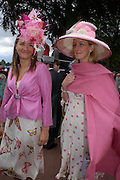 Sophia Harding-Newman and Georgina Pope. Royal Ascot Race meeting Ascot at York. Tuesday 14 June 2005. ONE TIME USE ONLY - DO NOT ARCHIVE  © Copyright Photograph by Dafydd Jones 66 Stockwell Park Rd. London SW9 0DA Tel 020 7733 0108 www.dafjones.com