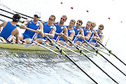 Marathon, GREECE,  FRA M8+, moves away from the start at the FISA European Rowing Championships.  Lake Schinias Rowing Course, FRI 19.09.2008  [Mandatory Credit Peter Spurrier/ Intersport Images] , Rowing Course; Lake Schinias Olympic Rowing Course. GREECE