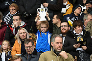 Notts County supporter with home-made FA Cup during the The FA Cup 4th round match between Notts County and Swansea City at Meadow Lane, Nottingham, England on 27 January 2018. Photo by Jon Hobley.