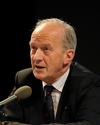 "© Licensed to London News Pictures. File Picture:16 March 2012; Bristol, UK; File picture of Lord Hunt at the Bristol Branch of the National Union of Journalists annual Benn Debate with the title ""Hacked to bits; Restoring public trust in journalism"" at the Arnolfini gallery in Bristol. The debate centred on phone hacking, the Leveson inquiry, and trust and regulation of the press. The speakers were Lord Hunt, Christopher Jefferies, Richard Peppiatt, Thais Portilho-Shrimpton, Steve Brodie from BBC Bristol, Mike Norton editor of the Bristol Post.  The event was chaired by Donnacha Delong, President of the National Union of Journalists. 16 March 2012..Photo credit : Simon Chapman/LNP"