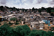 A favela, shanty town in the heart of Sap Paulo city, Brazil