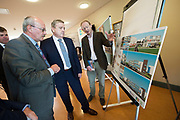 11/07/2017  REPRO FREE:   (RtoL)Mr David Lee Head of buildings and Estates GMIT,  Minister of State Pat Breen, Department of Enterprise and Innovation,  and Mr George McCourt  Head of innovation GMIT on a visit to the iHub and GMIT . Photo:Andrew Downes, xposure .