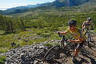 Mountain bikersPaklenica National Park, Velebit Nature Park, Rewilding Europe rewilding area, Velebit  mountains, Croatia