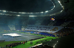 General view of the pitch ahead of the UEFA Champions League Final at the NSK Olimpiyskiy Stadium, Kiev. PRESS ASSOCIATION Photo. Picture date: Saturday May 26, 2018. See PA story SOCCER Champions League. Photo credit should read: Peter Byrne/PA Wire