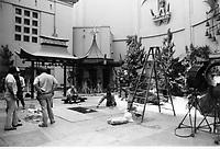 1975 Movie making at Grauman's Chinese Theater