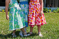 Girls ages 4-7 show off their Easter dresses