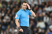 Referee Darren England during the EFL Sky Bet Championship match between Derby County and Cardiff City at the Pride Park, Derby, England on 13 September 2019.