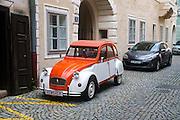 Citroën 2CV Deux Chevaux. Photographed in Krems, Austria