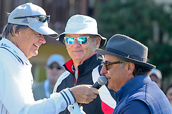 """Feb 6, 2019 Pebble Beach, Ca. USA TV, Film and singing stars that included BILL MURRAY and ANDY GARCIA whom played in the """"3M Celebrity Challenge"""" to try for part of the 100K purse to go to their favorite charity and win the Estwood-Murray cup, for which team Clint Eastwwod's group won.. The event took place during practice day of the PGA AT&T National Pro-Am golf on the Pebble Beach Golf Links. Photo by Dane Andrew c. 2019 contact: 408 744-9017  TenPressMedia@gmail.com"""