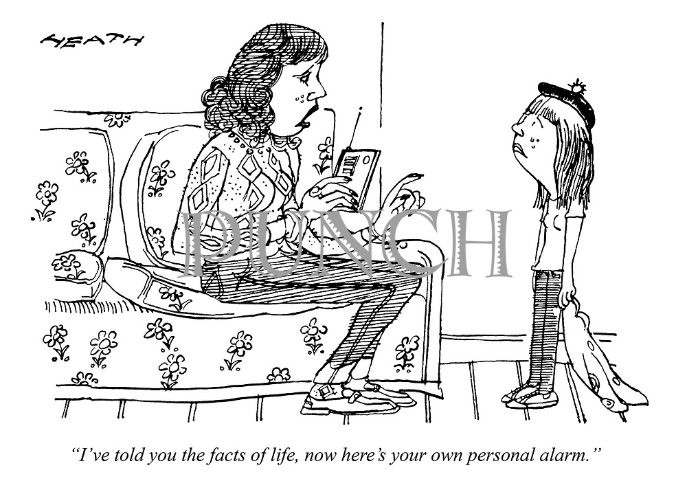 """""""I've told you the facts of life, now here's your own personal alarm."""""""