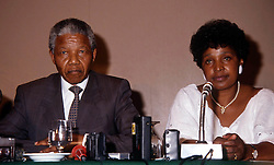 South Africa, Johannesburg - December 096, 2013.Former South African President Nelson Mandela has died in Johannesburg at the age of 95..Here with his wife Winnie (Credit Image: © ROPI/ZUMAPRESS.com)