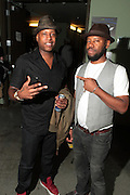 September 22, 2012- Los Angeles, CA:  (L-R) Recording Artists Talib Kweli and Anthony Marshall, Co-founder & Producer, Lyricist Lounge backstage at the Lyricist Lounge 20th Year Reunion Party-Los Angeles held at Club Nokia at LA Live on September 22, 2012 in Los Angeles, California. The Lyricist Lounge is a hip hop showcase of rappers, emcees, DJ's, and Graffiti artists. It was founded in 1991 by hip hop aficionados Danny Castro and Anthony Marshall. It was a series of open mic events hosted in a small studio apartment in the Lower East Side section of New York City. (Terrence Jennings)