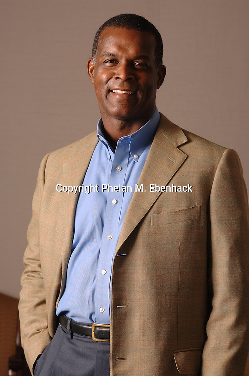A portrait of Darden Restaurants CEO Clarence Otis at his office in Orlando, Florida.