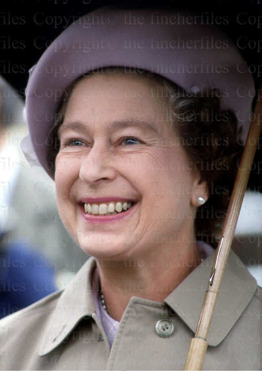 The Queen seen during a visit to Kylesku in Scotland in 1984. Photographed by Jayne Fincher