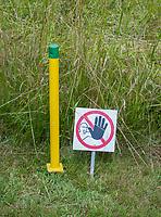 TRIER (Treves) - Duitsland -  biotoop, natuurgebied, geo, niet betreden, verboden, hindernis, van GCT, Golf Club Trier. . COPYRIGHT KOEN SUYK