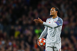 May 1, 2019 - Barcelona, Catalonia, Spain - May 1, 2019 - Barcelona, Spain - Uefa Champions League 1/2 of final second leg, FC Barcelona v Liverpool FC: Virgil Van Dijk of Liverpool FC frustrated after missing the crossed ball during a corner  (Credit Image: © Marc Dominguez/ZUMA Wire)