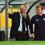 England coach and assistant Steve McLaren look puzzled during their one - one draw
