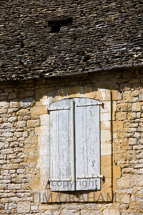 Traditional French building at St Amand de Coly, Dordogne, France