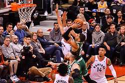 October 19, 2018 - Toronto, Ontario, Canada - Jason Tatum #0 of the Boston Celtics dribbles the ball shoots the ball during the Toronto Raptors vs Boston Celtics NBA regular season game at Scotiabank Arena on October 19, 2018 in Toronto, Canada (Toronto Raptors win 113-101) (Credit Image: © Anatoliy Cherkasov/NurPhoto via ZUMA Press)