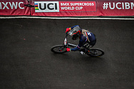 2021 UCI BMXSX World Cup<br /> Round 3 and 4 at Bogota (Colombia)<br /> Friday Practice<br /> ^we#5 MAIRE, Camille (FRA, WE) Supercross, RIM, Fist