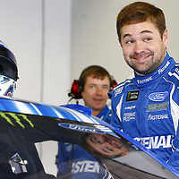 February 10, 2018 - Daytona Beach, Florida, USA: Ricky Stenhouse Jr (17) hangs out in the garage during practice for the Advance Auto Parts Clash at Daytona International Speedway in Daytona Beach, Florida.