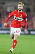 Middlesbrough midfielder Harry Chapman (27) in action  during The FA Cup 3rd round match between Middlesbrough and Peterborough United at the Riverside Stadium, Middlesbrough, England on 5 January 2019.