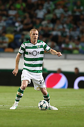 August 15, 2017 - Lisbon, Portugal - Sporting's defender Jeremy Mathieu from France in action during the UEFA Champions League play-offs first leg football match between Sporting CP and FC Steaua Bucuresti at the Alvalade stadium in Lisbon, Portugal on August 15, 2017. (Credit Image: © Pedro Fiuza/NurPhoto via ZUMA Press)