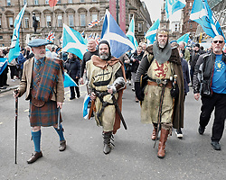 All Under One Banner Independence March, Glasgow, Saturday 4th May 2019<br /> <br /> Pictured: Robert the Bruce attended the march<br /> <br /> Alex Todd | Edinburgh Elite media