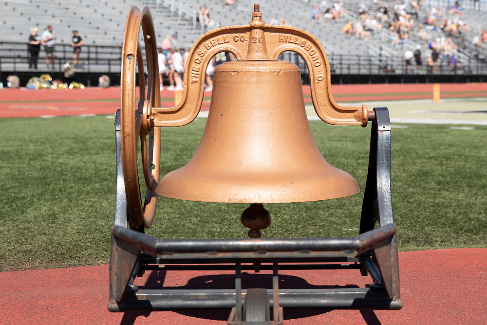 Penn touchdown bell during the Valparaiso-Penn high school football game on Saturday, August 22, 2020, at Freed Field in Mishawaka, Indiana.