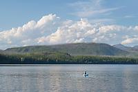 Teenagers fishing in Lake McDonald Glacier National Park