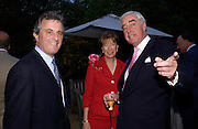 Viscount and Viscountess astor and Rupert Hambro. Cartier dinner after thecharity preview of the Chelsea Flower show. Chelsea Physic Garden. 23 May 2005. ONE TIME USE ONLY - DO NOT ARCHIVE  © Copyright Photograph by Dafydd Jones 66 Stockwell Park Rd. London SW9 0DA Tel 020 7733 0108 www.dafjones.com
