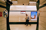 The London Tube, way to Central Line at Queensway Station