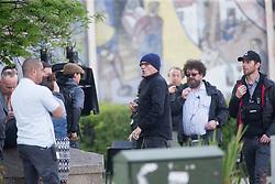 Director Danny Boyle and Ewen Bremner filming Trainspotting2 at Ferry Road, Edinburgh.