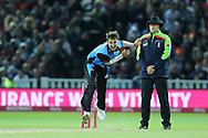 Worcestershire Rapids Ed Barnard during the final of the Vitality T20 Finals Day 2018 match between Worcestershire rapids and Sussex Sharks at Edgbaston, Birmingham, United Kingdom on 15 September 2018.