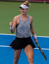 PORTOROZ, SLOVENIA - SEPTEMBER 18: Alison Riske of USA celebrates her win in the Semifinals of WTA 250 Zavarovalnica Sava Portoroz at SRC Marina, on September 18, 2021 in Portoroz / Portorose, Slovenia. Photo by Nik Moder / Sportida