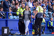 A Sheffield Wednesday fans is lead away by the stewards  during the EFL Sky Bet Championship match between Sheffield Wednesday and Sheffield Utd at Hillsborough, Sheffield, England on 24 September 2017. Photo by Adam Rivers.