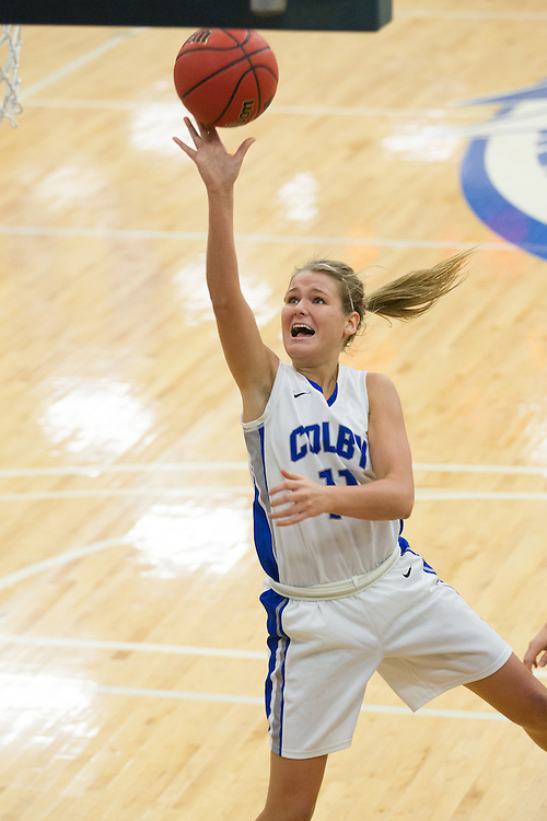Desi Smith, of Colby College, during an NCAA Division III college basketball game against St. Joseph's at The Whitmore-Mitchell at Wadsworth Gymnasium, Thursday Dec. 5, 2013 in Waterville, ME.  (Dustin Satloff/Colby College Athletics)