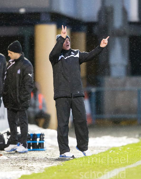 Falkirk's manager Peter Houston. <br /> Livingston 0 v 1 Falkirk, Scottish Championship played13/12/2014 at The Energy Assets Arena.