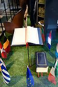 Perspreview 50 jaar Koninklijk Paleis Amsterdam.<br /> <br /> Op de foto:  Het Verdrag van Maastricht