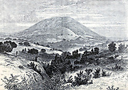 Mount Tabor From the book 'Those holy fields : Palestine, illustrated by pen and pencil' by Manning, Samuel, 1822-1881; Religious Tract Society (Great Britain) Published in 1874
