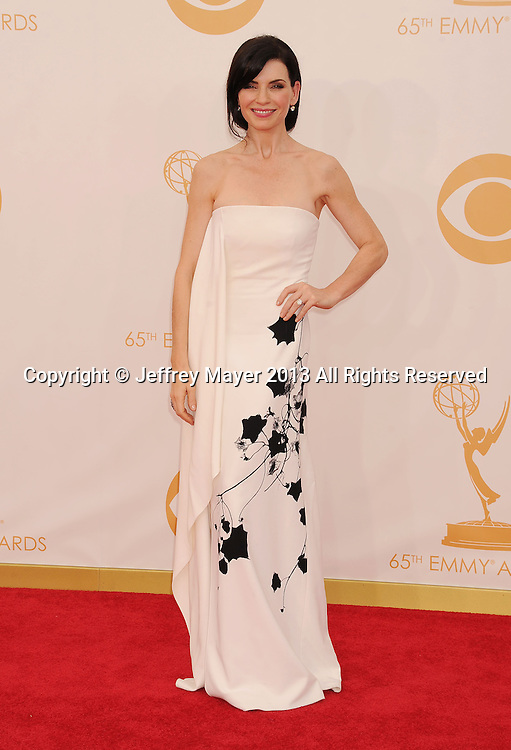 LOS ANGELES, CA- SEPTEMBER 22: Actress Julianna Margulies arrives at the 65th Annual Primetime Emmy Awards at Nokia Theatre L.A. Live on September 22, 2013 in Los Angeles, California.