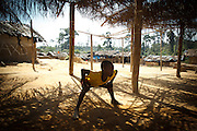 Children play in the village of Popoko, Bas-Sassandra region, Cote d'Ivoire on Tuesday March 6, 2012.