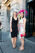 Emily Ryan, Tipperary, Kate Kennedy,Tipperary at the Hotel Meyrick Most Stylish Lady event on ladies day of The Galway Races. Photo:Andrew Downes
