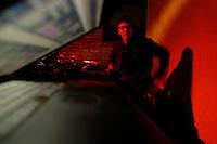 Christiaan Virant, musician, photographed at 2 Kolegas in Beijing.